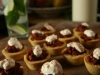 Polenta Cups with Black Bean Chilli and Sour Cream (V)